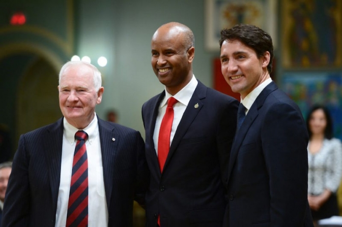 Former refugee Ahmed Hussen takes over immigration ministry