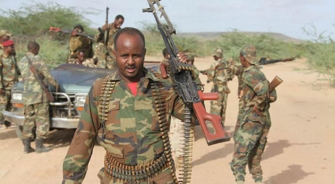 TWO soldiers killed in southern Somalia
